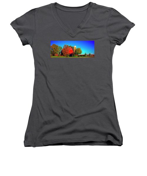 Huntley Road Barn Early Morning Women's V-Neck