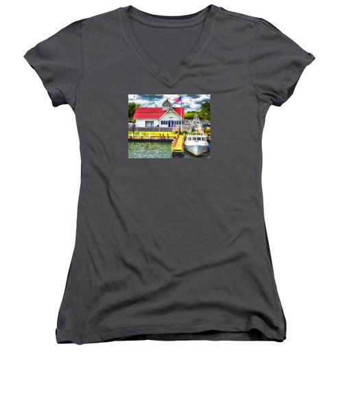 Hyannis The Coastguard Women's V-Neck T-Shirt