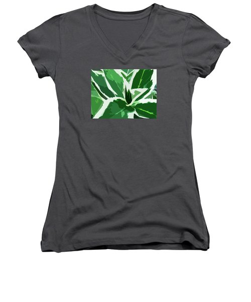 Hydrangea Women's V-Neck (Athletic Fit)
