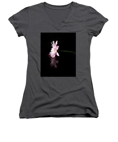 I Alone Women's V-Neck T-Shirt (Junior Cut) by Craig Szymanski