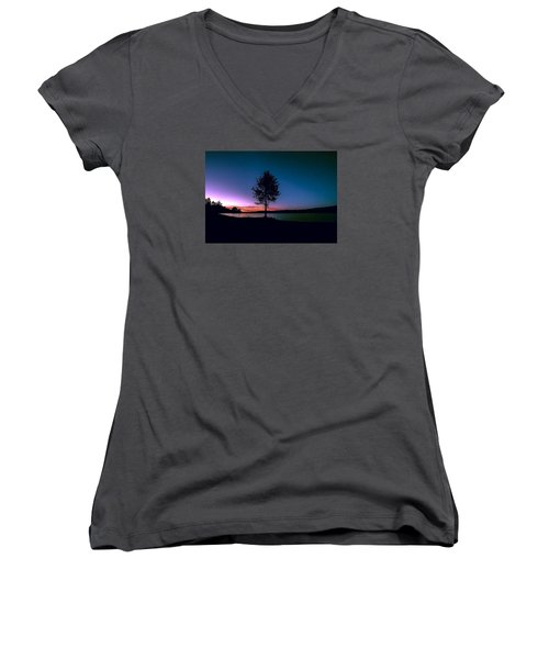 Women's V-Neck T-Shirt (Junior Cut) featuring the photograph I Am For You by Rose-Maries Pictures