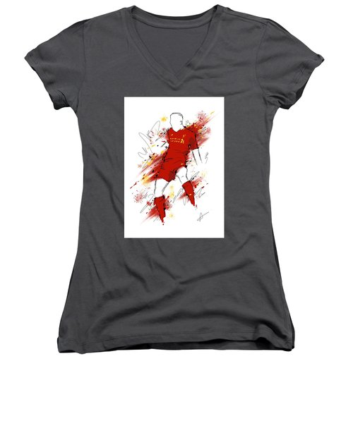I Am Red #2 Women's V-Neck (Athletic Fit)