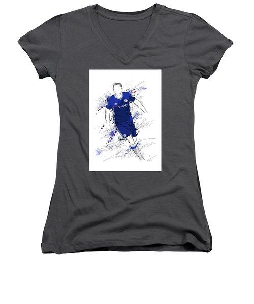 I Am Royal Blue Women's V-Neck T-Shirt