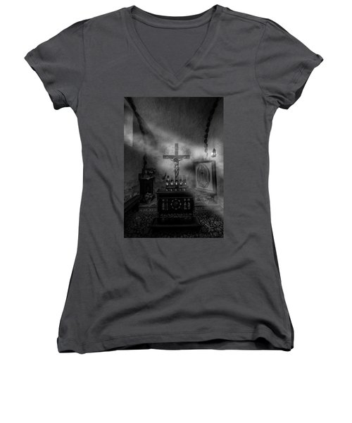 Women's V-Neck T-Shirt (Junior Cut) featuring the photograph I Am The Light Of The World by David Morefield
