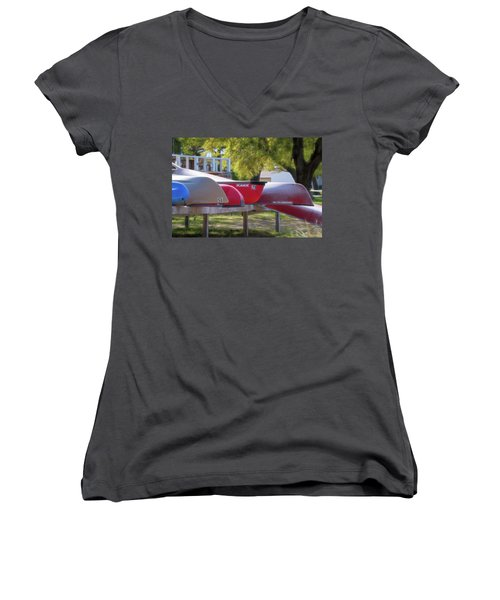 I Believe I'll Go Canoeing Women's V-Neck