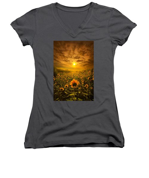 I Believe In New Beginnings Women's V-Neck