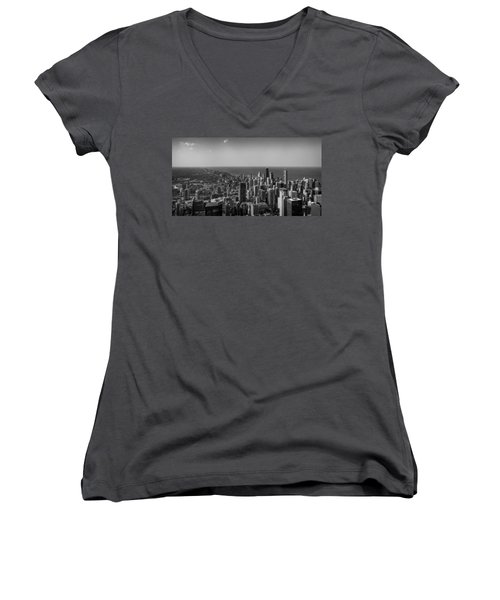 Women's V-Neck featuring the photograph I Can See For Miles And Miles by Howard Salmon