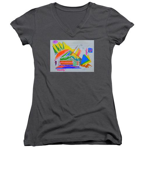 I Dig Vassily Women's V-Neck T-Shirt (Junior Cut) by J R Seymour