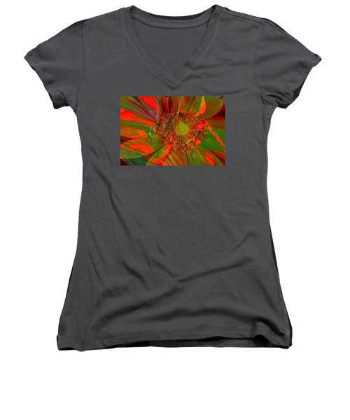 Women's V-Neck T-Shirt (Junior Cut) featuring the photograph I Dreamed Of Flowers  by Jeff Swan