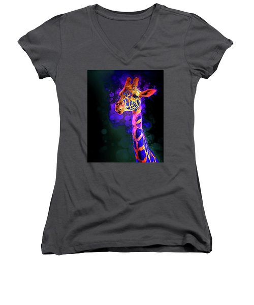 I Dreamt A Giraffe Women's V-Neck