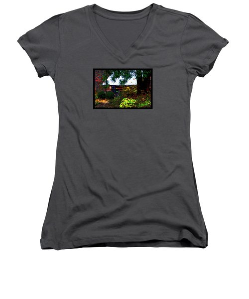 I Dreamt I Was A Cabin Women's V-Neck T-Shirt (Junior Cut) by Susanne Still