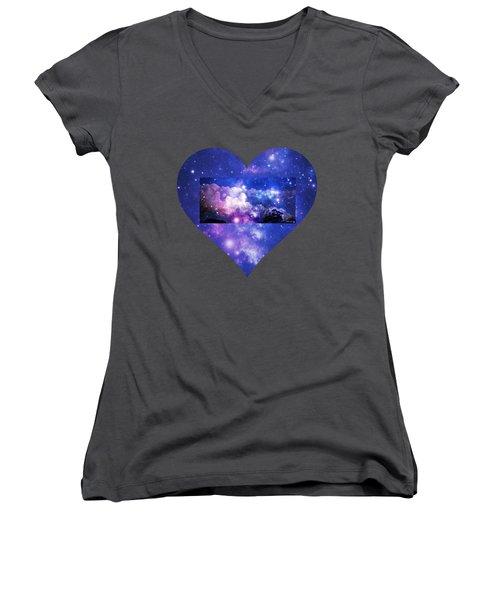 I Love The Night Sky Women's V-Neck T-Shirt