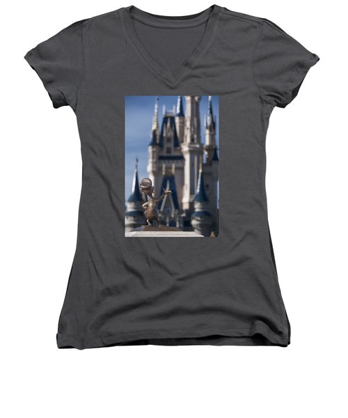 I Present You Cinderella's Castle Women's V-Neck T-Shirt