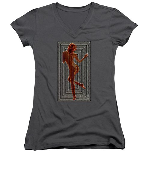 Women's V-Neck T-Shirt featuring the digital art I Stand Behind My Words by Rafael Salazar