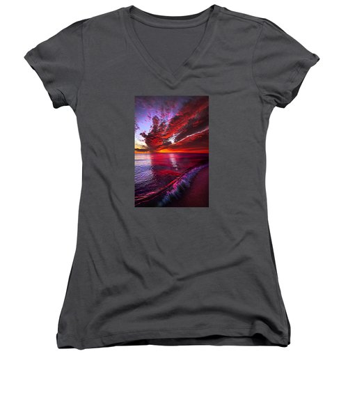 I Wake As A Child To See The World Begin Women's V-Neck (Athletic Fit)