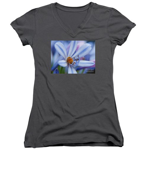 Women's V-Neck T-Shirt (Junior Cut) featuring the photograph I Want More by Trena Mara