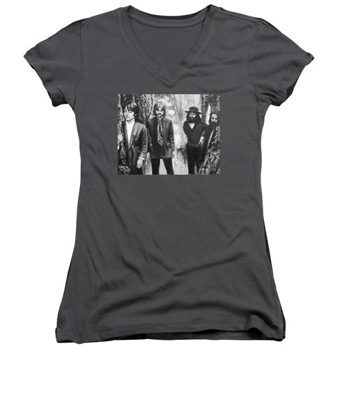 And In The End Women's V-Neck T-Shirt (Junior Cut) by Rebecca Glaze