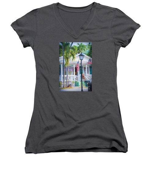 Ice Cream In Key West Women's V-Neck T-Shirt
