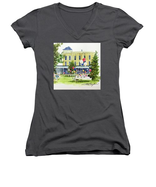 Ice Cream Social And Strawberry Festival, Lakeside, Oh Women's V-Neck T-Shirt
