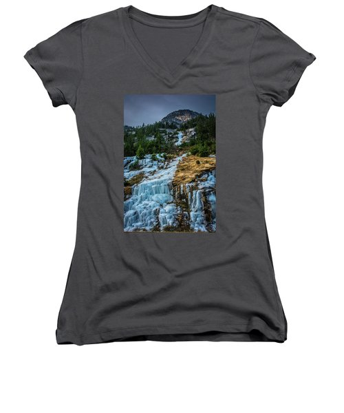 Ice Fall Women's V-Neck (Athletic Fit)