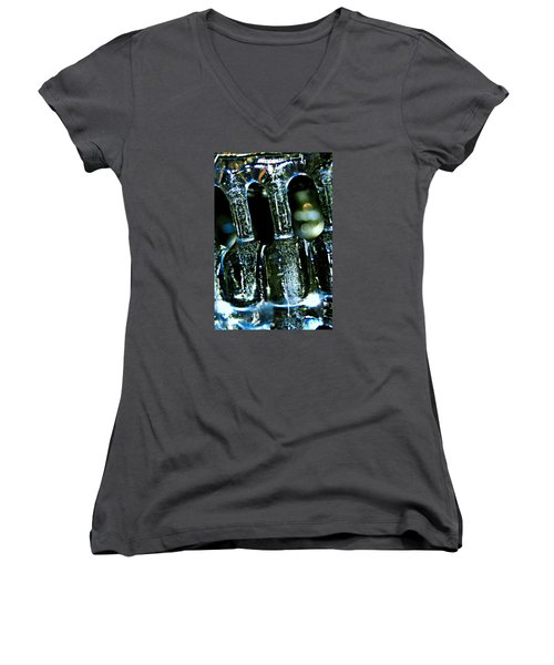 Ice Formation 02 Women's V-Neck