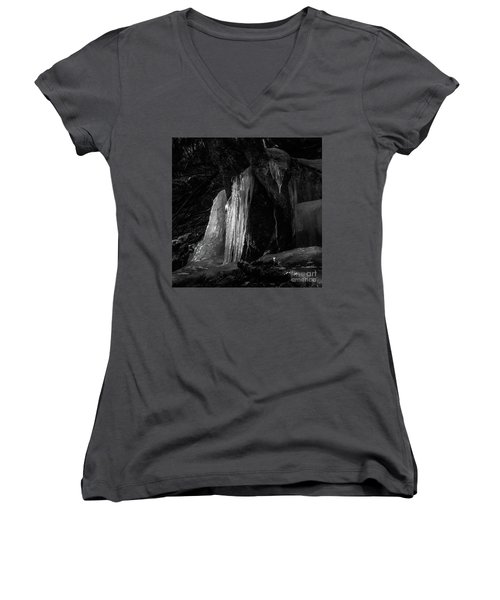 Icicle Of The Forest Women's V-Neck T-Shirt (Junior Cut) by Tatsuya Atarashi