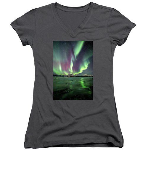 Ice Reflection II Women's V-Neck (Athletic Fit)