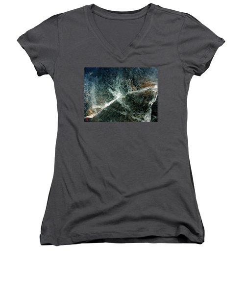 Ice Winter Denmark Women's V-Neck T-Shirt (Junior Cut) by Colette V Hera Guggenheim