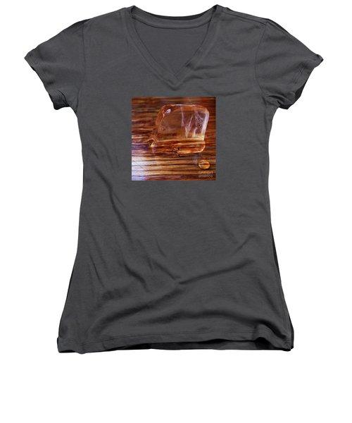 Icecube Trail Women's V-Neck T-Shirt (Junior Cut) by Vanessa Palomino