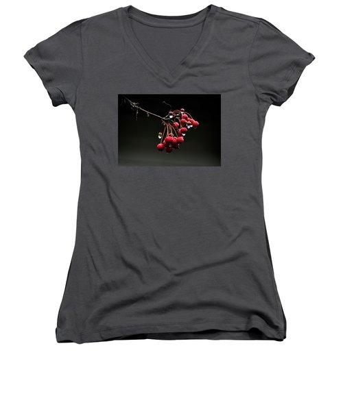 Iced Crab Apples Women's V-Neck T-Shirt