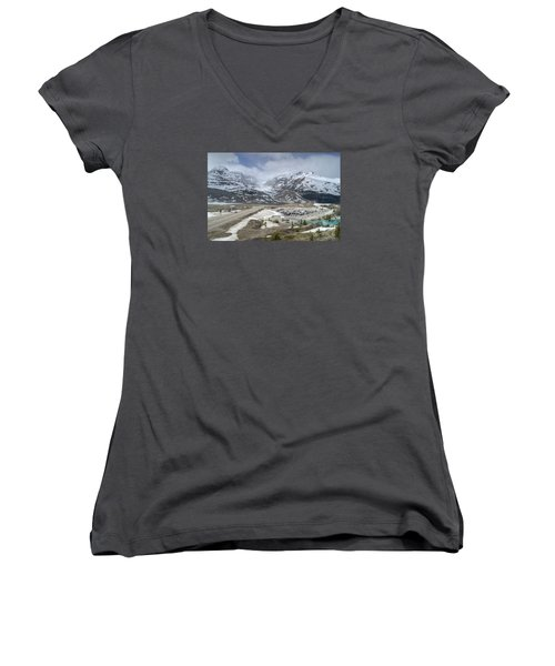 Icefields Parkway Highway 93 Women's V-Neck T-Shirt