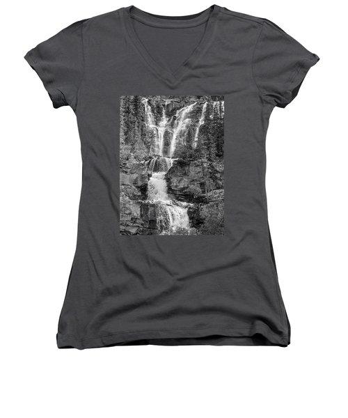 Icefields Waterfall Women's V-Neck