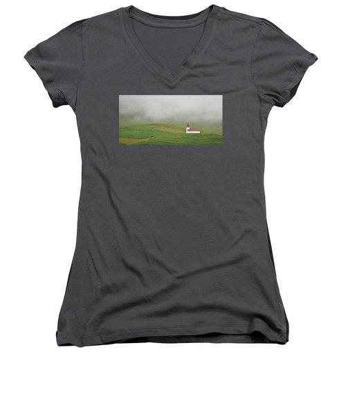 Icelandic Chapel Women's V-Neck T-Shirt