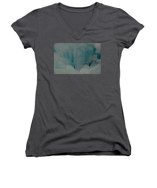 Icicle Blue Beauty Women's V-Neck T-Shirt