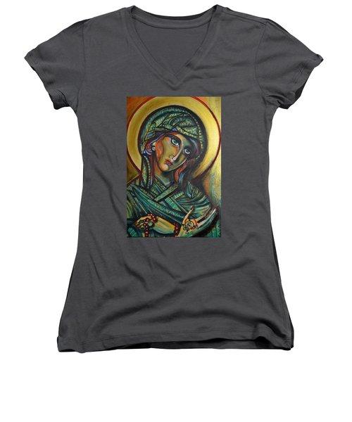 Icona Women's V-Neck T-Shirt (Junior Cut) by Sandro Ramani