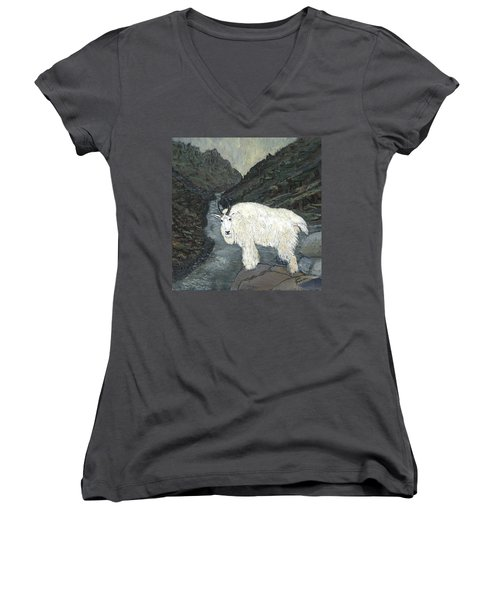 Idaho Mountain Goat Women's V-Neck (Athletic Fit)