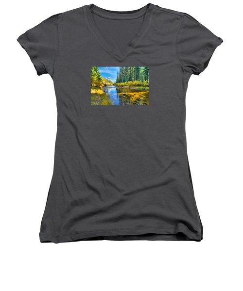 Idaho Stream 2 Women's V-Neck T-Shirt