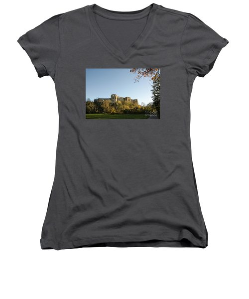 Women's V-Neck T-Shirt featuring the photograph If I Could Speak......... by Kennerth and Birgitta Kullman