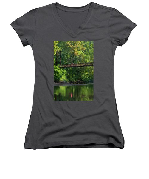 Ilchester-patterson Swinging Bridge Women's V-Neck T-Shirt