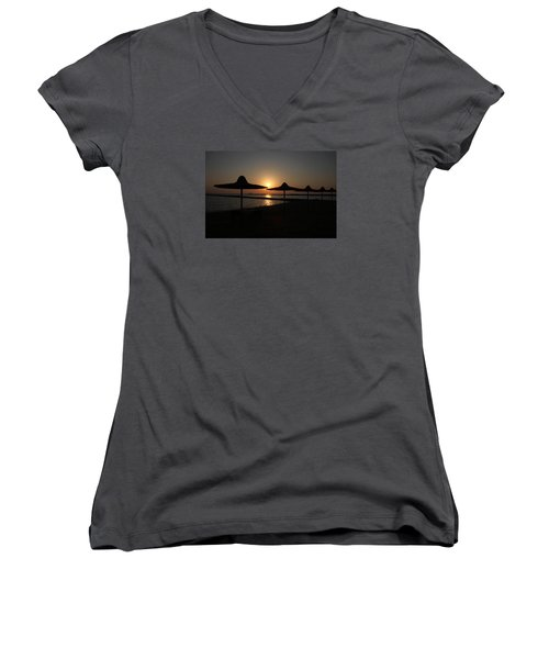 I'll Meander  Women's V-Neck T-Shirt (Junior Cut) by Jez C Self