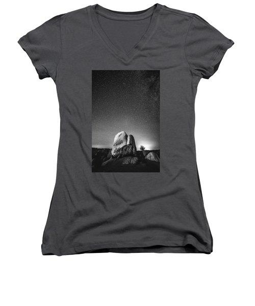 Women's V-Neck T-Shirt (Junior Cut) featuring the photograph Illuminati V by Ryan Weddle