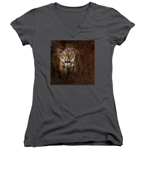 I'm Coming For You Women's V-Neck (Athletic Fit)