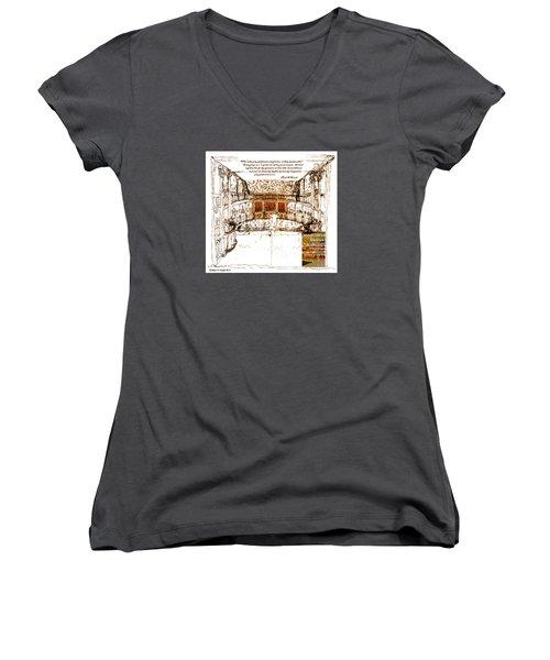 Imaginitive Genius V4 Women's V-Neck T-Shirt