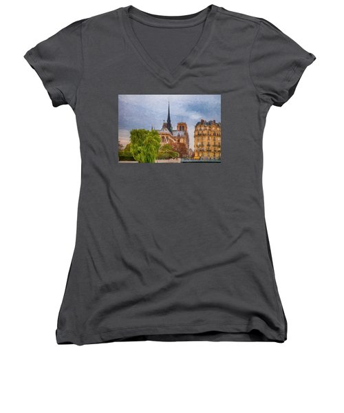 Impression, Paris Women's V-Neck