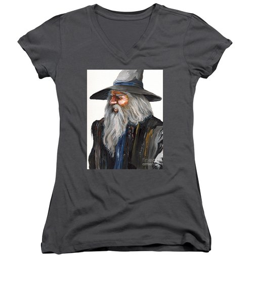 Impressionist Wizard Women's V-Neck (Athletic Fit)