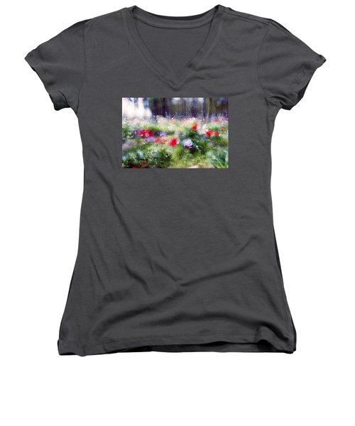 Impressionistic Photography At Meggido 2 Women's V-Neck