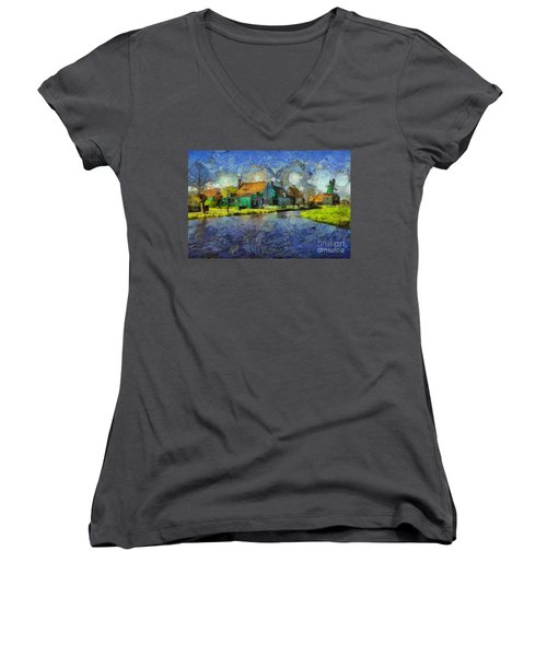Impressions Of Zaanse Schans Women's V-Neck