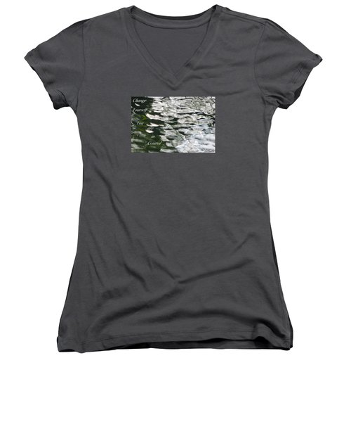 In Control Women's V-Neck T-Shirt (Junior Cut) by David Norman
