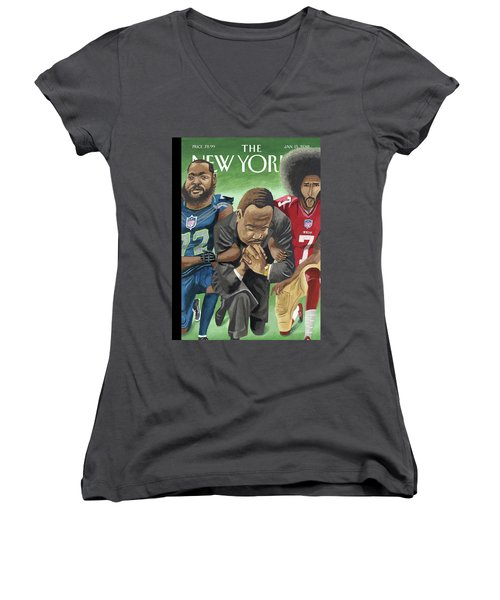 In Creative Battle Women's V-Neck
