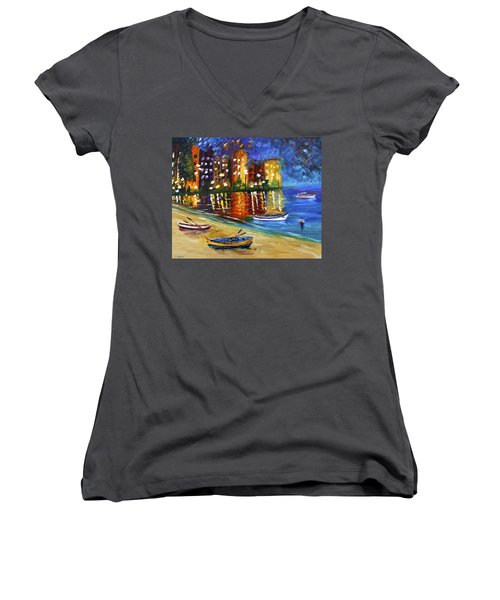 In For The Night Women's V-Neck
